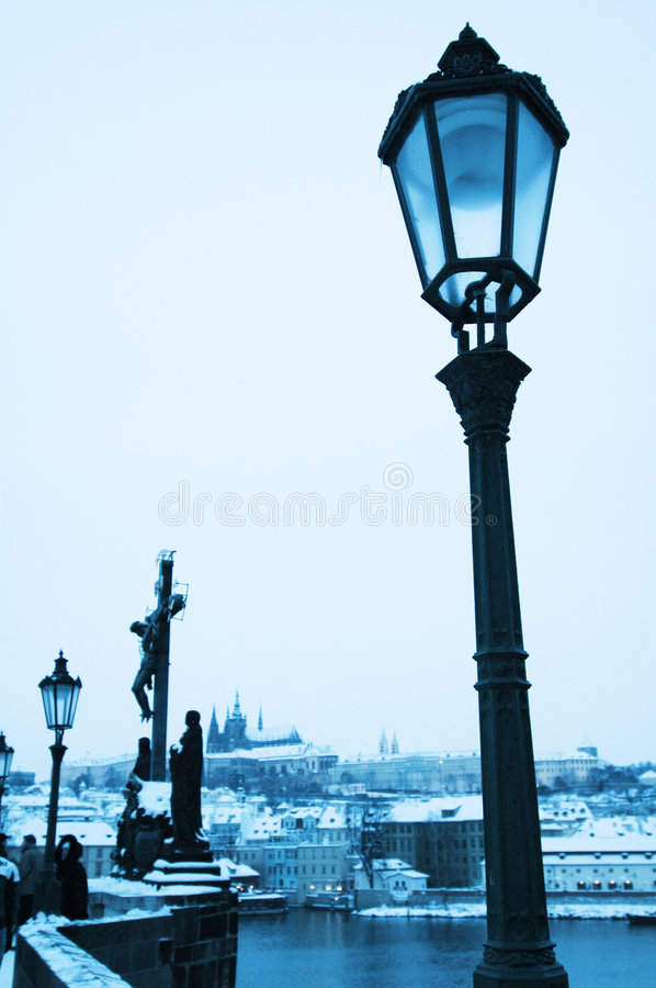 Blue Prague stock image