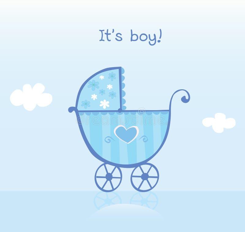 Free Blue Pram For Boy Royalty Free Stock Photo - 10313025