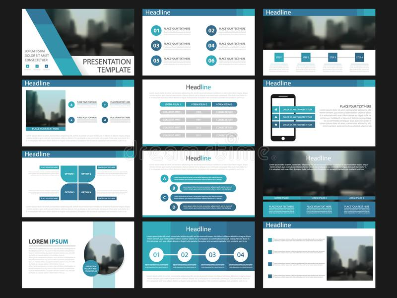 Blue Presentation templates elements on a white background. Vector infographics. Use in Presentation, flyer and leaflet, vector illustration
