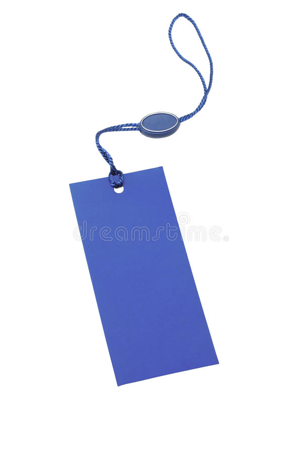 Blue price tag stock images
