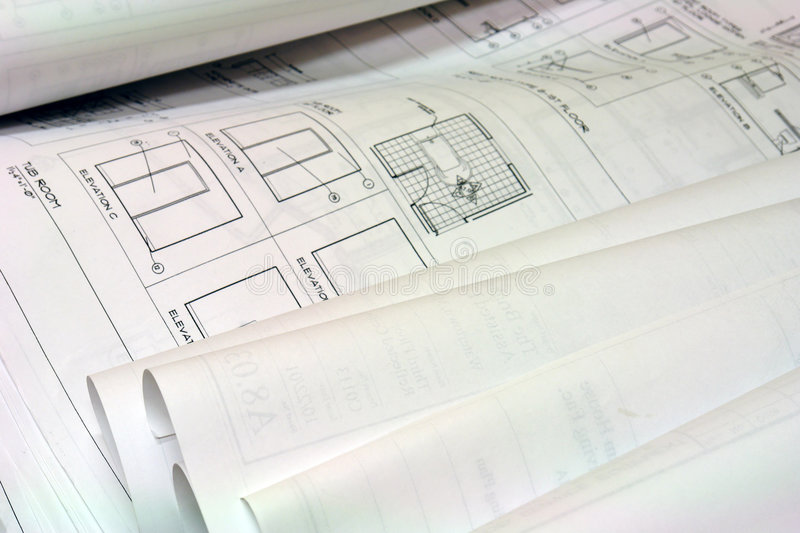Download Blue Print Building Plans Stock Images - Image: 1715374