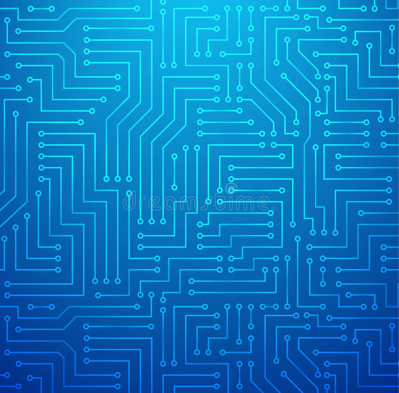 Blue Printed Circuit Board vector illustration