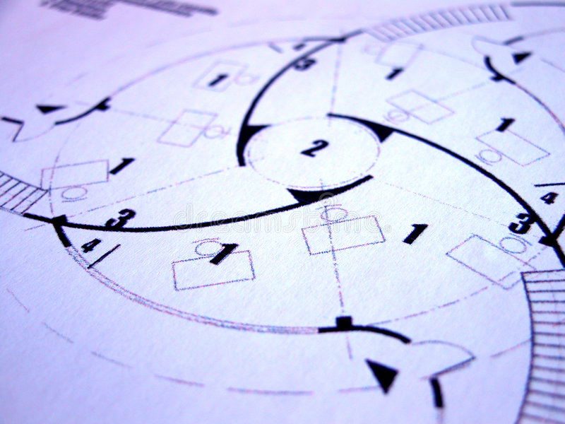 Download Blue prints stock photo. Image of architecture, office, digits - 628