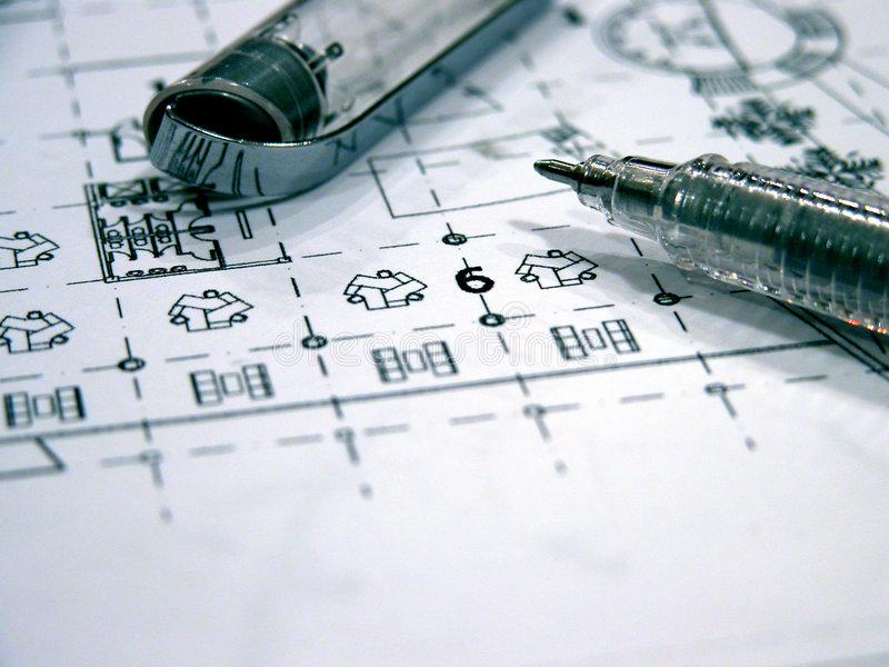 Download Blue prints stock photo. Image of building, lines, sketches - 642