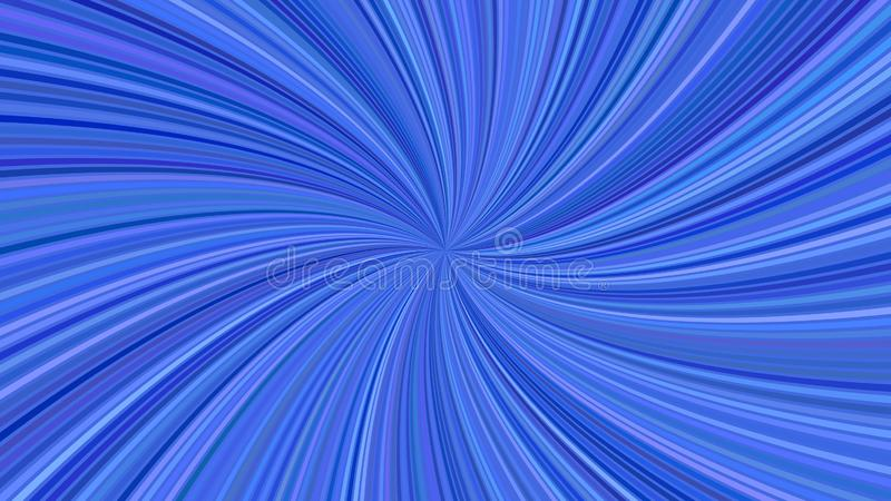Blue psychedelic abstract spiral ray burst stripe background. Vector illustration vector illustration