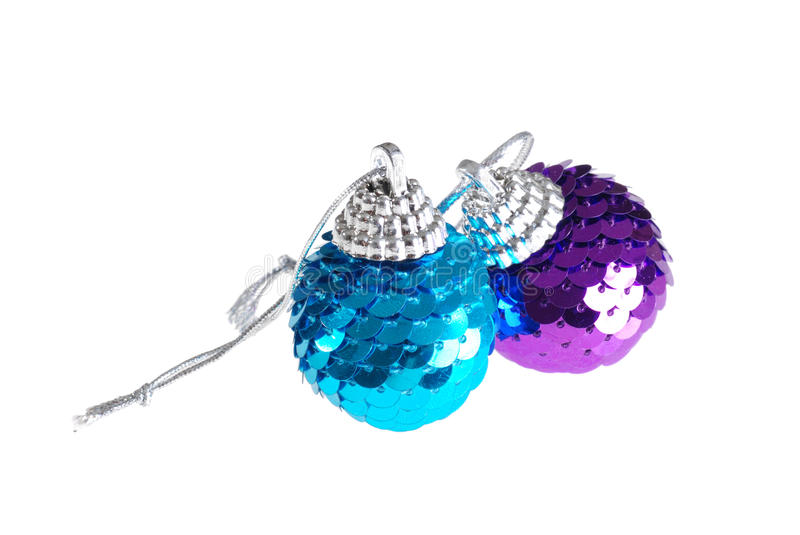 Blue and purple christmas ornament royalty free stock photos