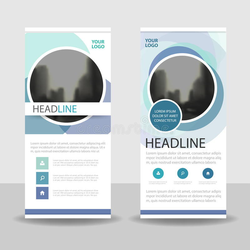 Blue purple circle Business Roll Up Banner flat design template ,Abstract Geometric banner template Vector illustration set vector illustration
