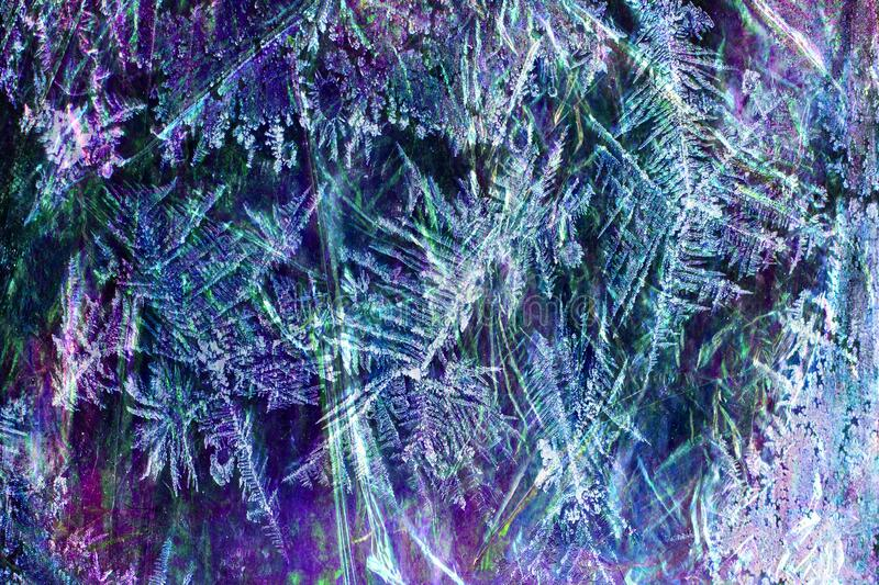 blue-purple crystals royalty free stock photography