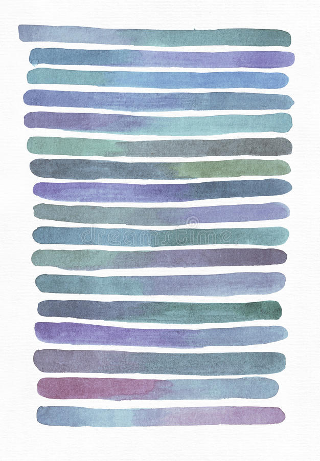 Blue and purple illustration, cool and branding freehand texture based on watercolor gradient stripes, blue, aqua, teal and purple stock illustration