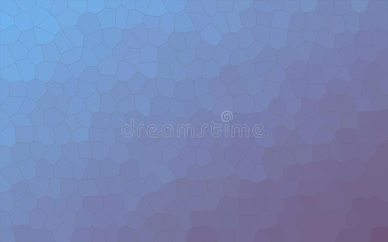 Blue and purple Little hexagon background illustration. royalty free illustration