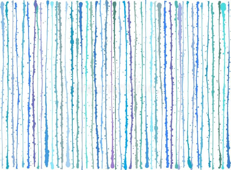Blue purple splatter grunge lines background over white vector illustration