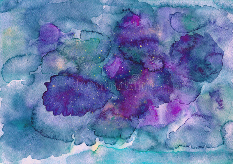 Blue purple watercolor background royalty free illustration