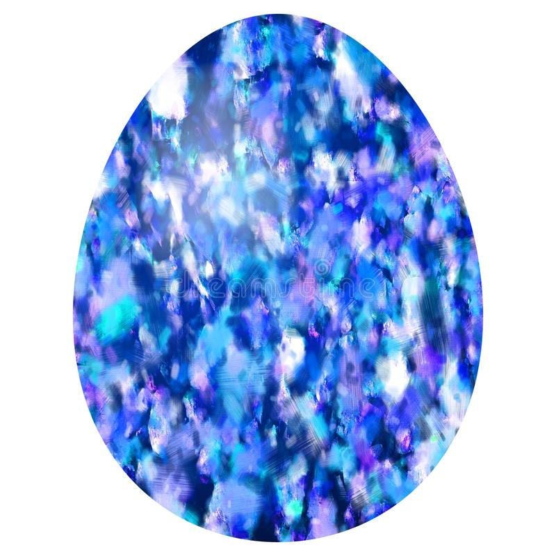 Blue purple white stained egg royalty free stock images