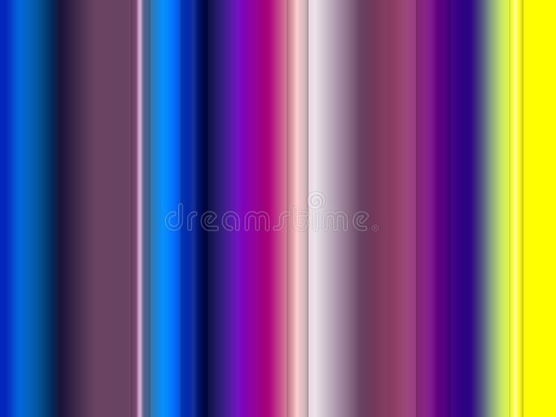 Abstract phosphorescent sparkling colors, lines, sparkling background, graphics, abstract background and texture. Blue purple yellow orange phosphorescent lines stock illustration