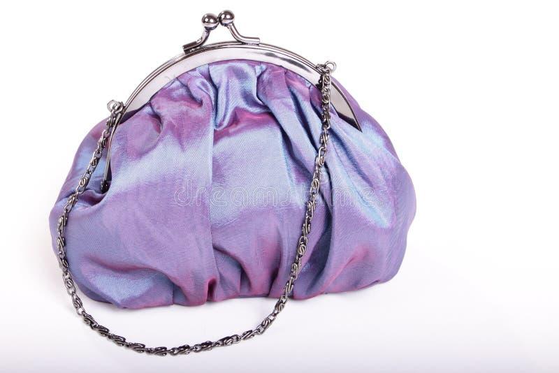 Blue purse stock images
