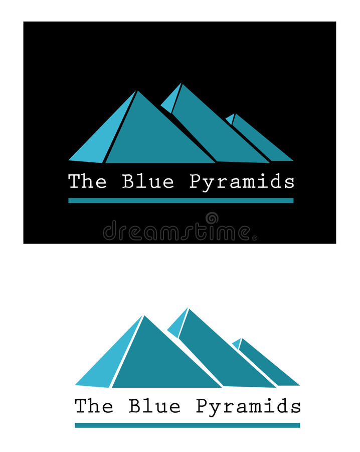 Download Blue pyramid signs stock vector. Image of signs, giza - 31307514