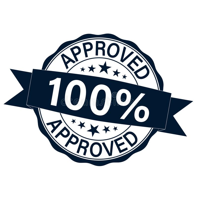 ISO APPROVED Certified Sign Icon. Certification Stamp