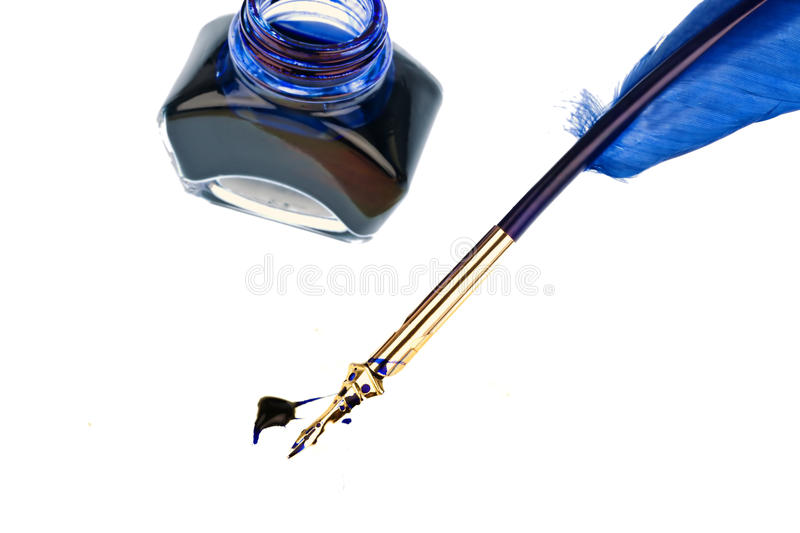 Blue quill stock images