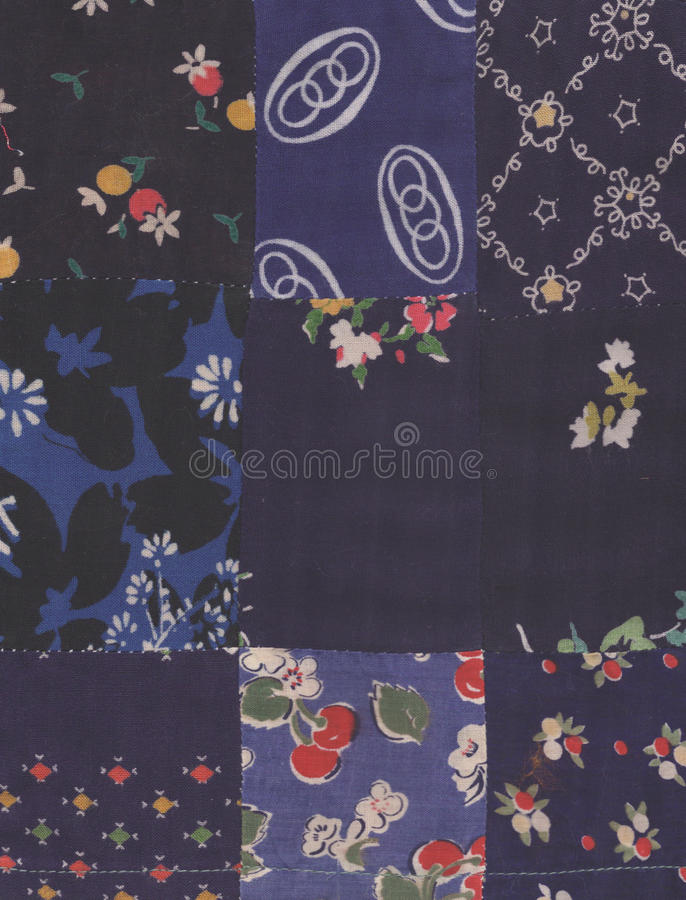 Download Blue quilt stock image. Image of fabric, craft, material - 12888701