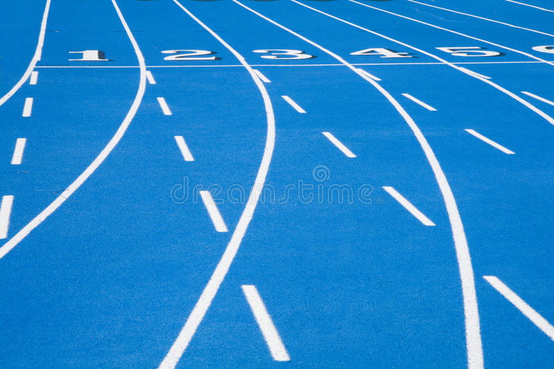 Download Blue Race Track Starting Line 2 Stock Photo - Image: 5259708