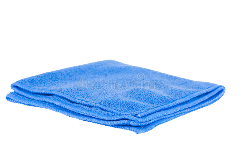 Blue rag isolated. Blue rag on a white background stock photo