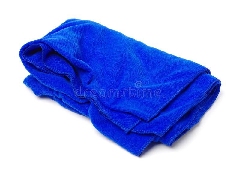 Blue rag. On a white background royalty free stock photos