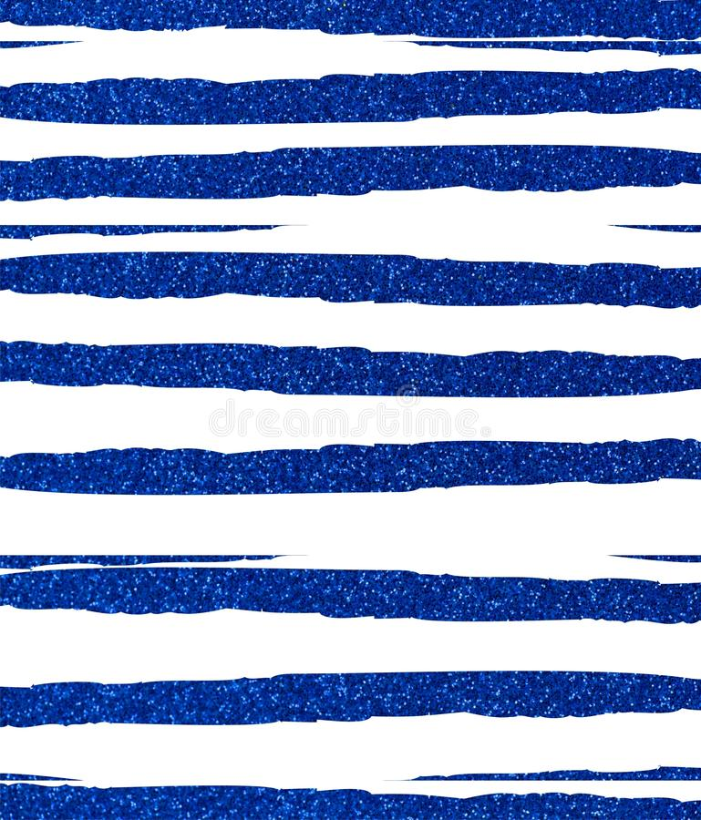 Blue ragged, uneven glittery stripes. On a white background. The texture of the glitter. Rectangular, vertical vector illustration