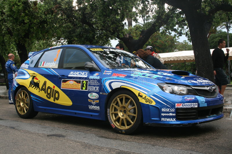 Download Blue Rally Car Editorial Stock Photo - Image: 5444008