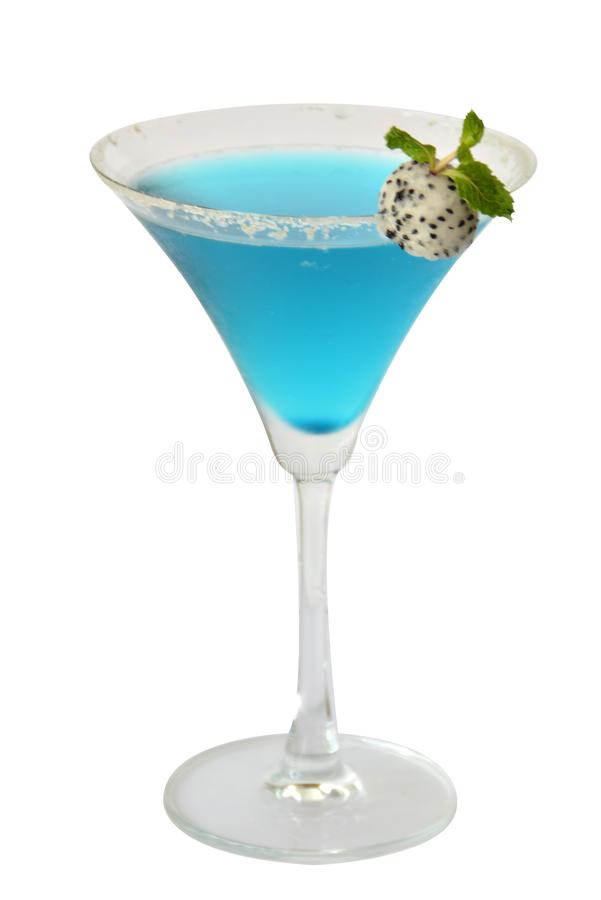 Blue Rasberry margarita cocktails and alcohol on white background royalty free stock images