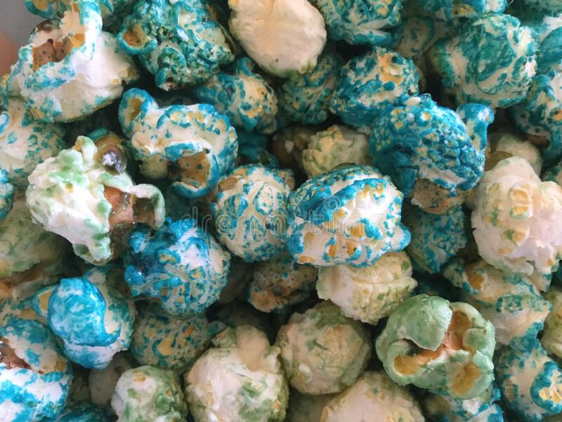 Blue Raspberry Kettle POP Corn royalty free stock image