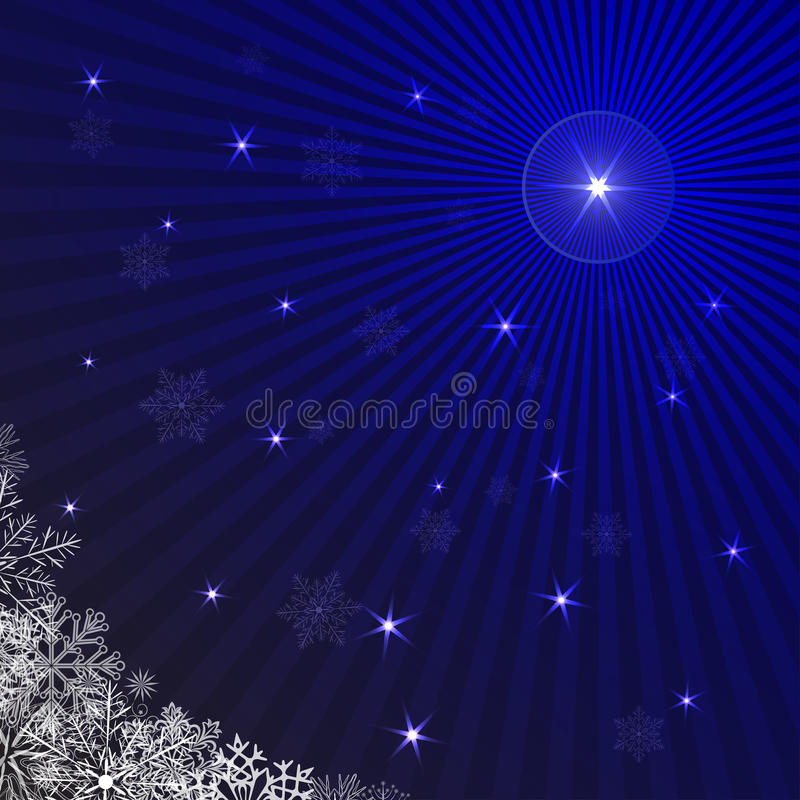 Blue rays Christmas background