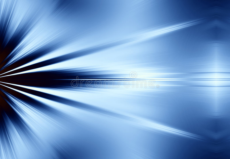 Blue Rays of Light Background royalty free illustration