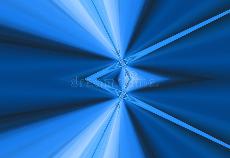 Blue Rays of Light Background stock illustration