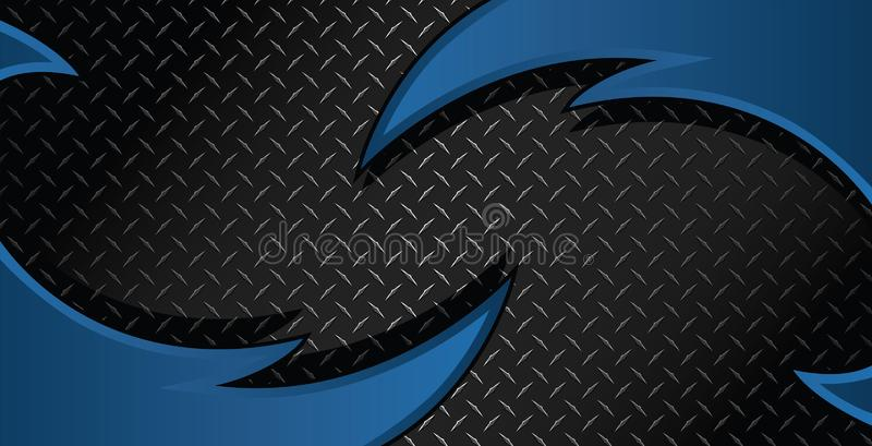 Blue Razor Diamond Plate Textured Vector Background Illustration royalty free stock images