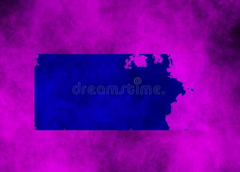 Blue rectangle on pink nebula background. In jpeg royalty free stock images