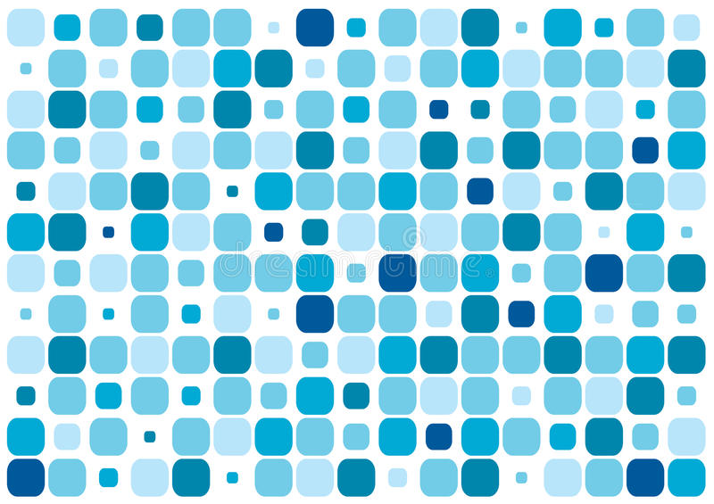 Blue rectangles. A lot of colors a sizes of blue rectangles vector illustration