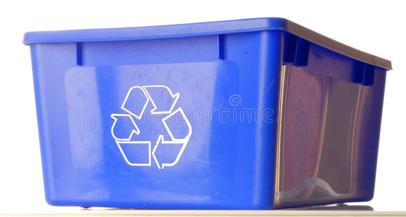 Download Blue recycle bin stock photo. Image of recycling, conceptual - 6349654
