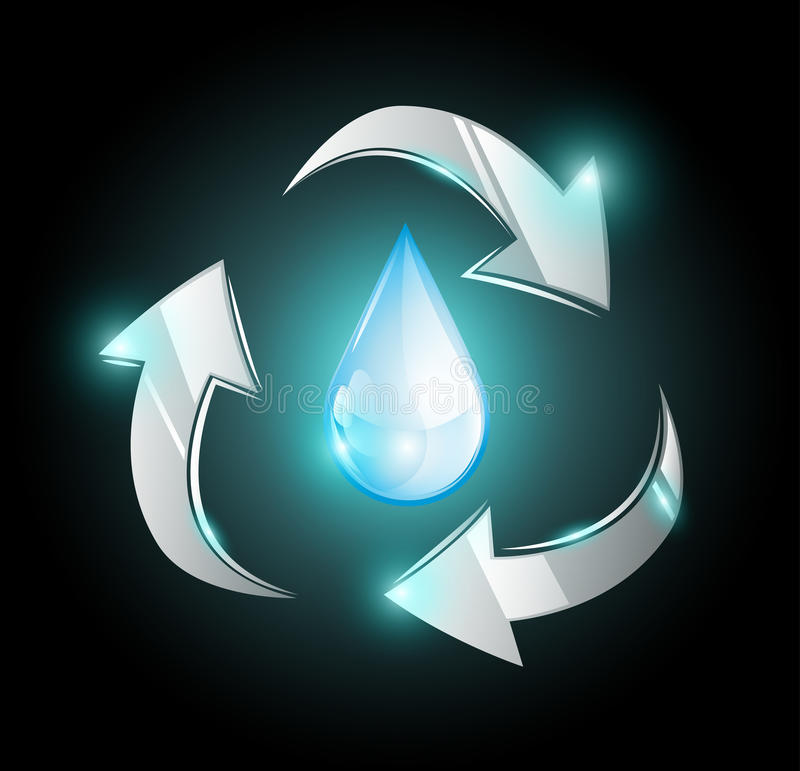 Free Blue Recycle Droplet Royalty Free Stock Photography - 45888757
