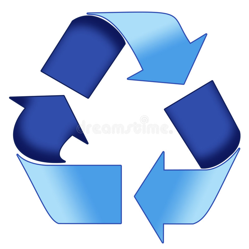 Download Blue Recycle symbol stock illustration. Image of refuse - 2647146