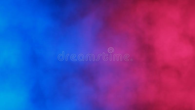 Blue and red abstract cloud of smoke pattern. On a black background. 3d render. Suitable for illustrating comparisons. Good for advertising mobile devices royalty free illustration