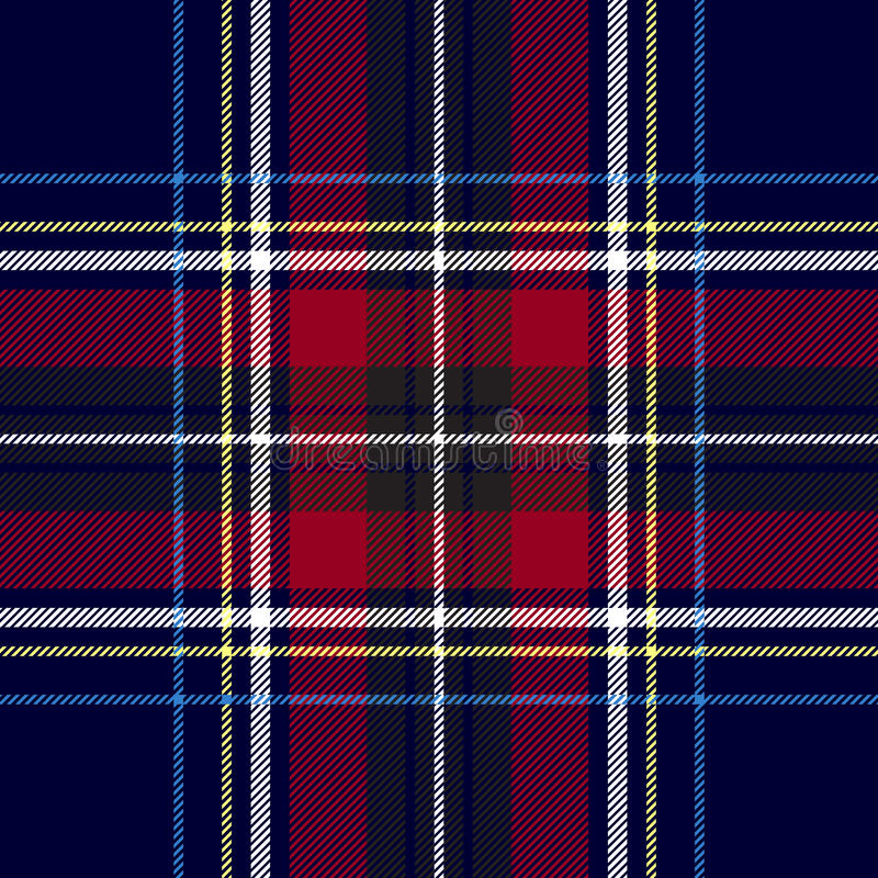 Blue red check plaid texture seamless pattern vector illustration
