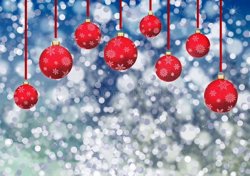 Blue, Red, Christmas Decoration, Christmas stock photography