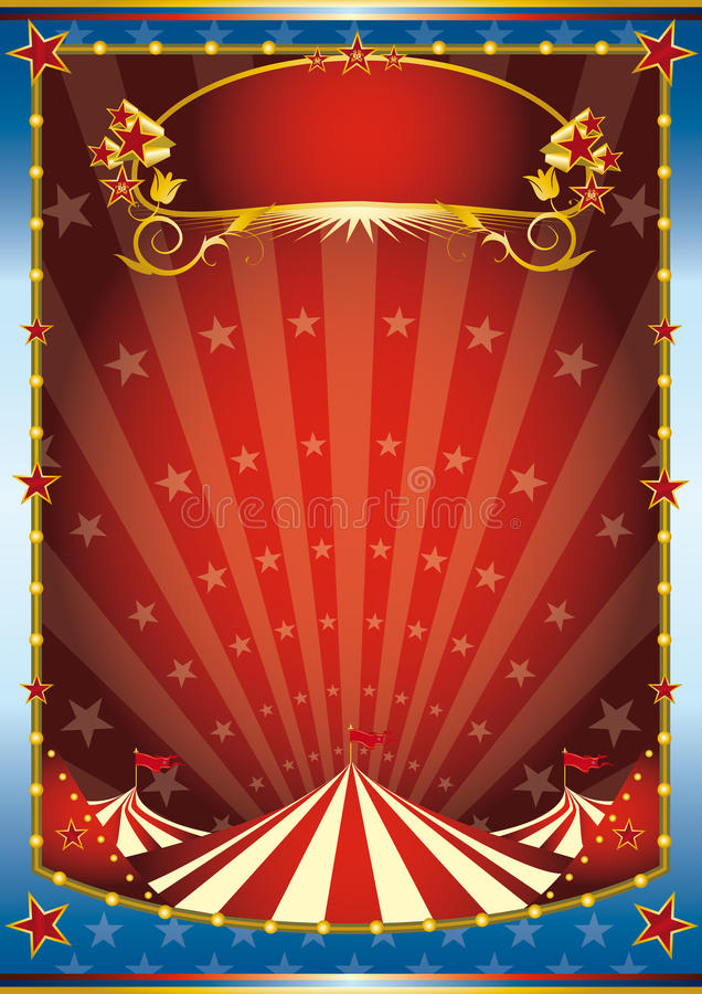 Blue and red circus background vector illustration
