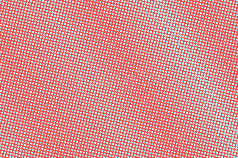 Blue and red dotted halftone. Faded dotted gradient. Half tone background. Abstract futuristic texture vector illustration
