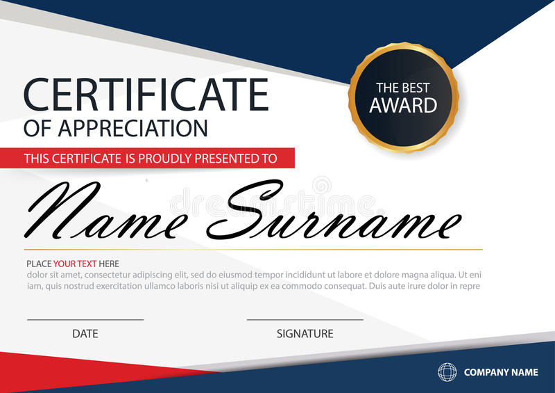 blue red elegance horizontal certificate with vector illustration rh dreamstime com certificate vector free download certificate vector template