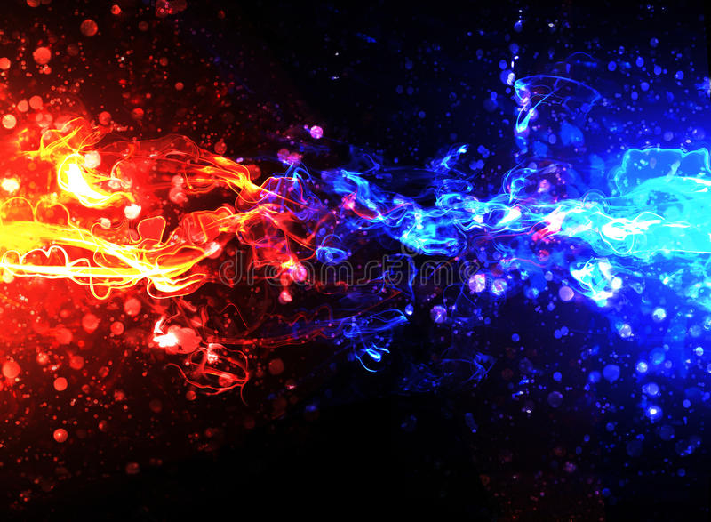 Blue and red fire stock illustration