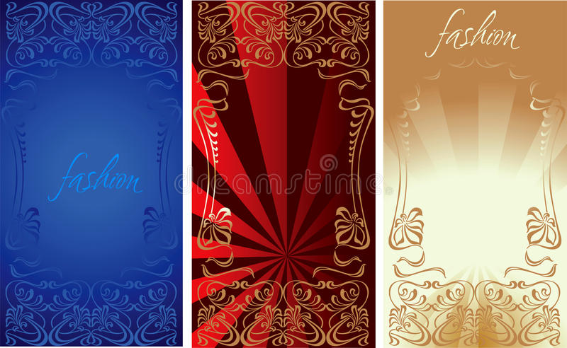 Blue Red Gold Fashion Background Royalty Free Stock Images