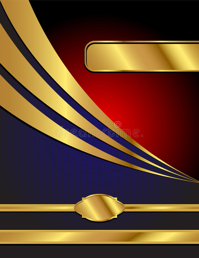 Blue, Red and Gold Modern Vector Background stock illustration
