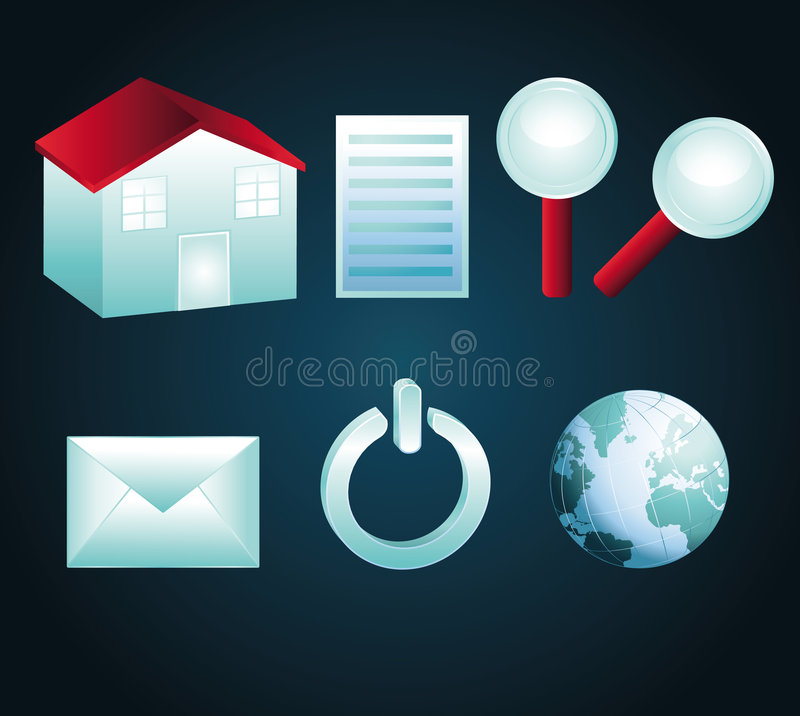 Download Blue And Red Icons Part I Stock Photos - Image: 7359313