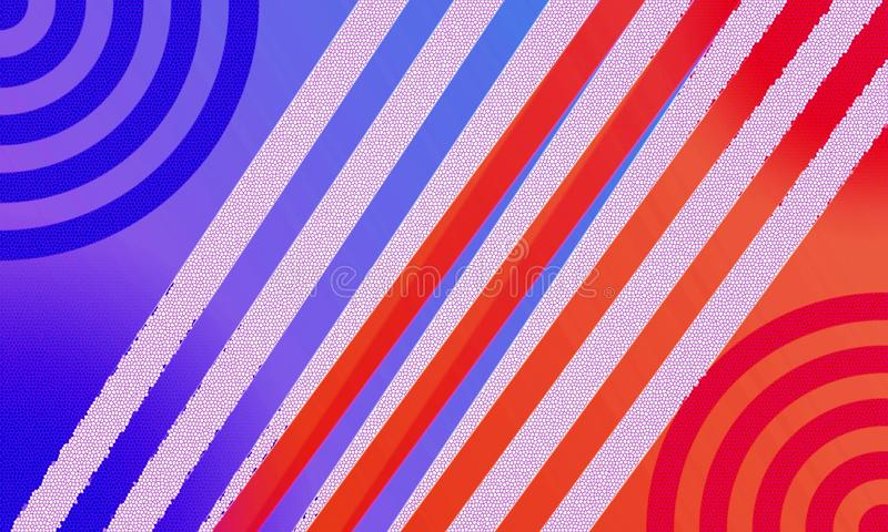 Blue and red line stock photo
